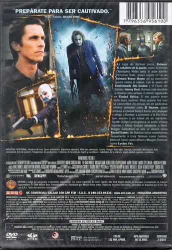 batman  el caballero de la noche - dvd nuevo original cerrad