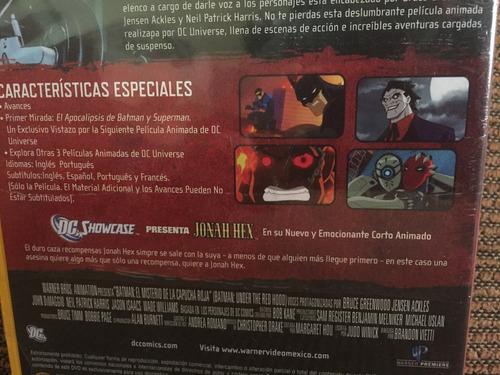 batman el misterio de la capucha roja dc universe dvd nuevo