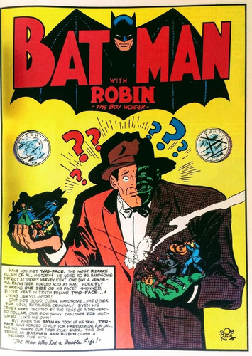 batman featuring two-face and the riddler - original ingles