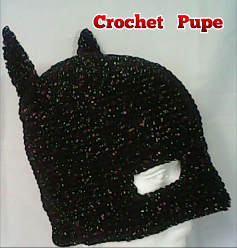 batman gorro crochet