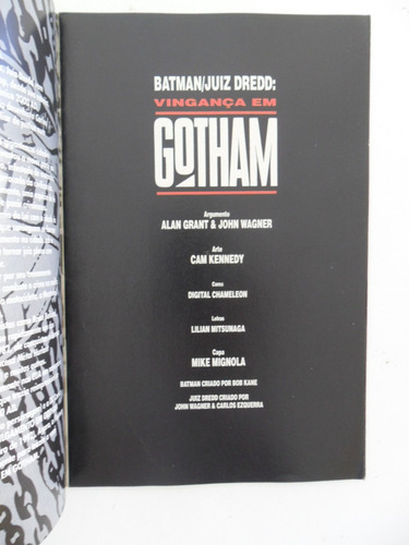 batman juiz dredd! vingança em gotham! ed. abril jun 1995!