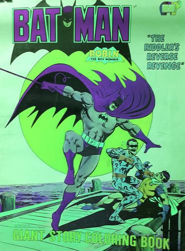 batman libro gigante para colorear año 1979 (43cm x 56cm)