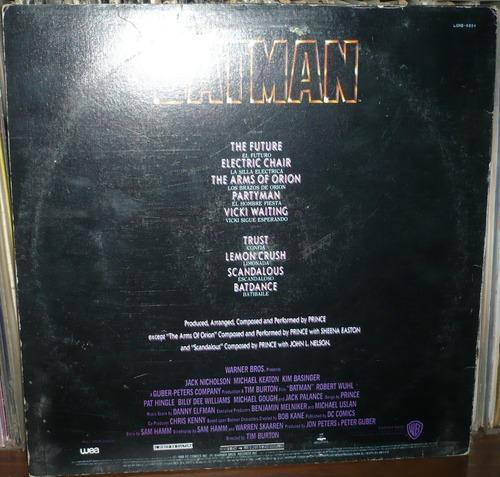 batman lp soundtrack prince
