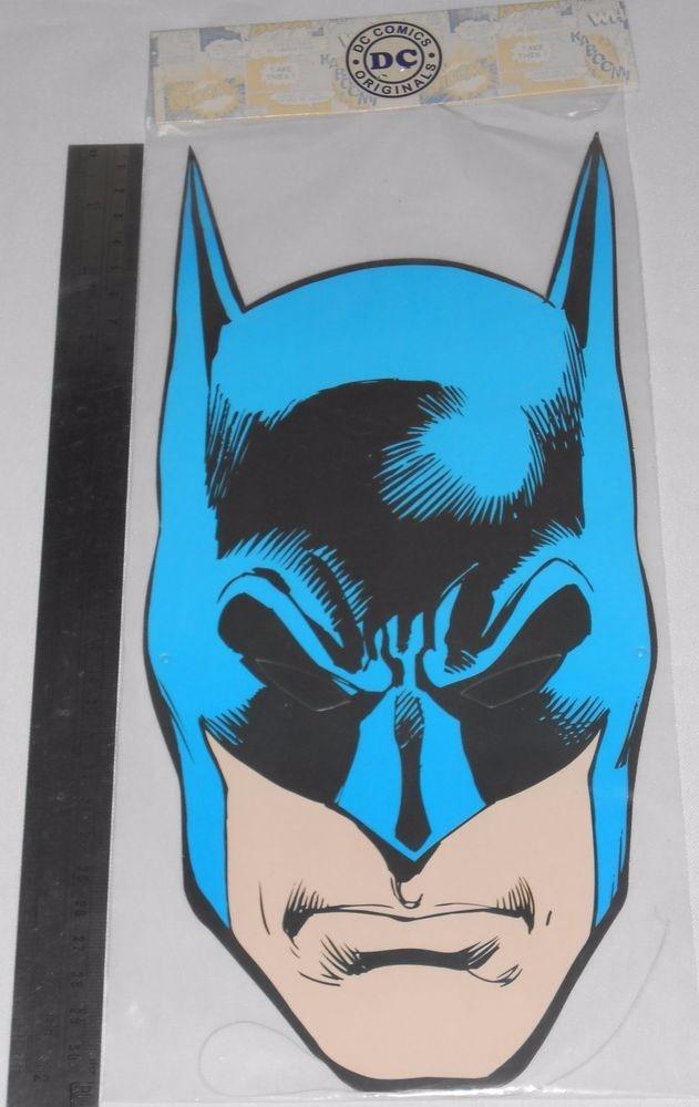 Batman Máscara De Papelão Item Original Dc 2015 Lacrado 32cm R 23
