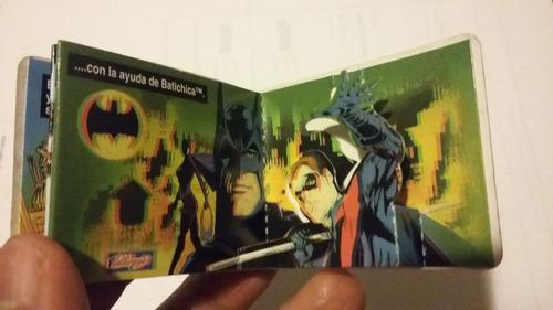 batman  pin y mini comic y arma de superman dc comics 80-90s