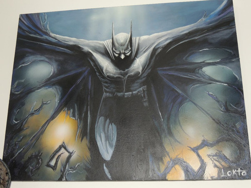 batman pintura 65 x 50 cm.  - metrópolis