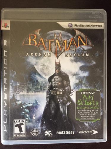 batman playstation 3 arkham asylum seminuevo! impecable