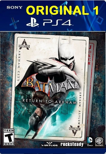 batman: return to arkham ps4 digital 1 envio imediato