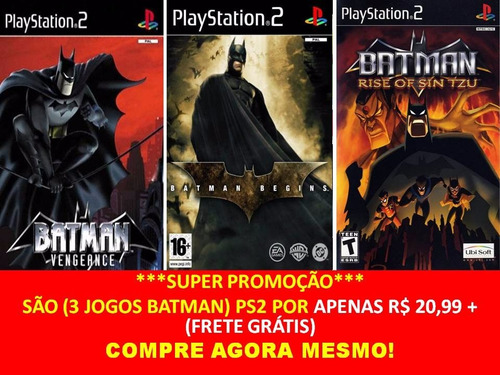 batman rise of sin tzu, begins, vengeance, lego (5 jogos ps2