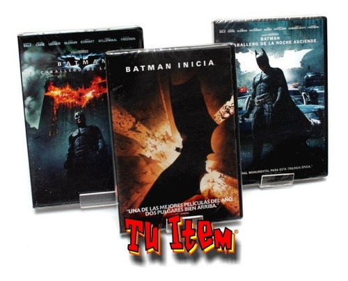 batman trilogia dvd set colección musimundo original nuevo