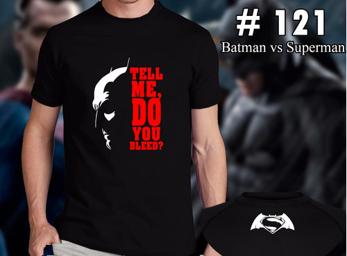 batman vs superman remeras estampadas de comics