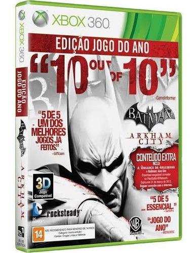 batman xbox 360 edição  jogo do ano mídia  física  original