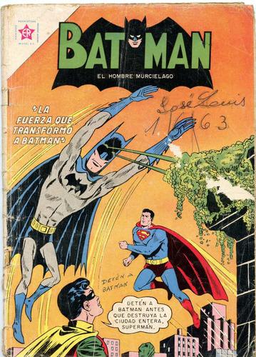 batman y superman nº 166 ( mayo 1963) editorial novaro