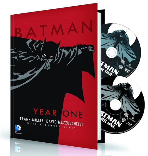 batman: year one - bluray novela gráfica dvd dc superman jla
