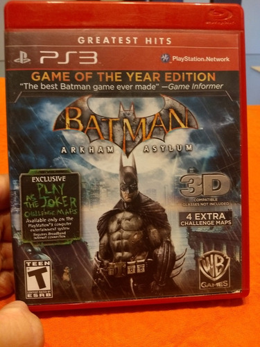 batman,juego ps3 usado, en excelente estado, todos los juego
