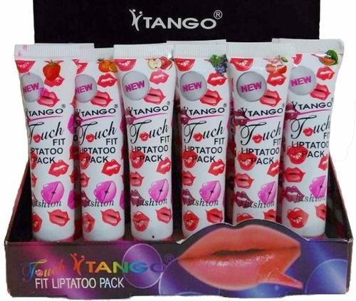 batom adesivo tatuagem 24 horas lip gloss tattoo tango 4d