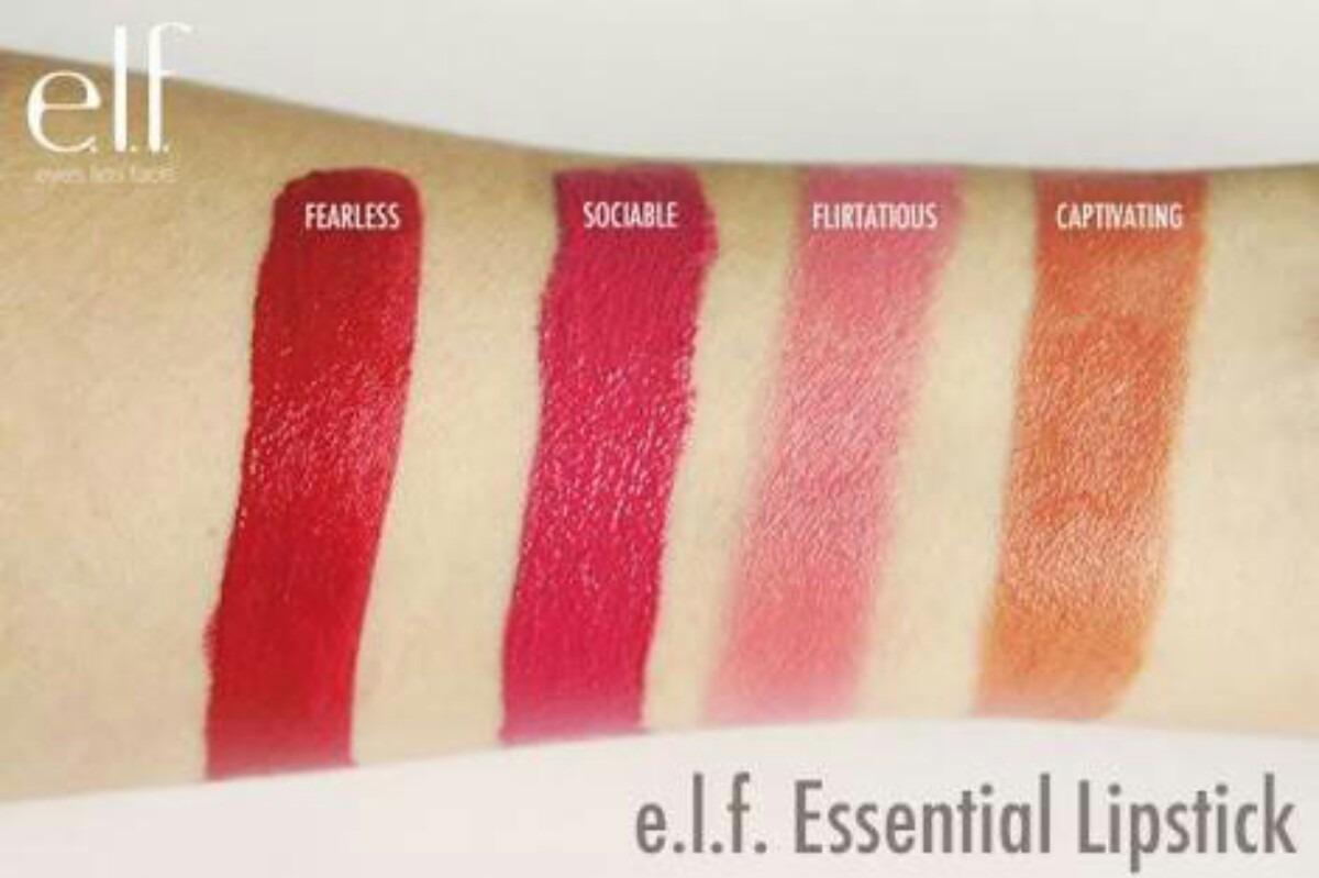batom e.l.f essential lipstick - fearless #7712. Carregando zoom.