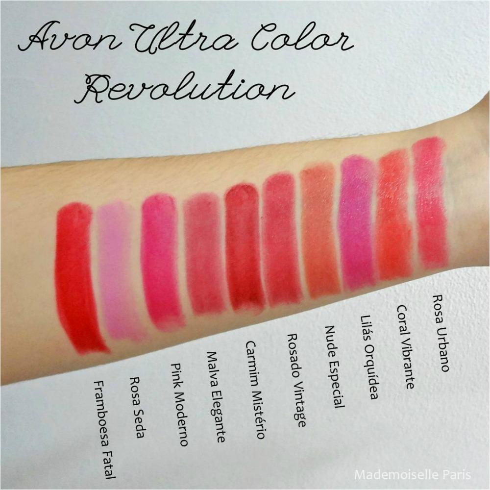 1 Batom Ultra Color Avon E Avon Matte Várias Cores Oferta