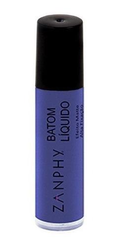 batom líquido matte zanphy - blue bic