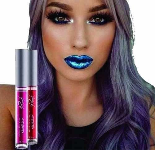 batom liquido ricosti azul blue temos mais cores promoção