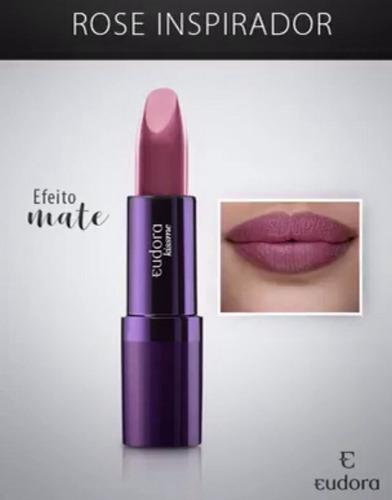 batom mate fosco rosa inspirador soul kiss me 3,5g eudora
