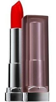 batom maybelline colorsensational matte cor siren in scarlet