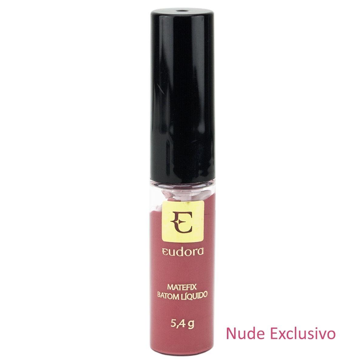 Batom Nude Exclusivo Matefix Eudora - R$ 32,40 em Mercado