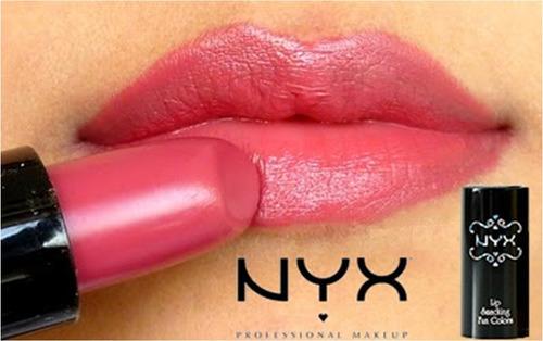 batom nyx  round lipstick + brinde 1 esmalte