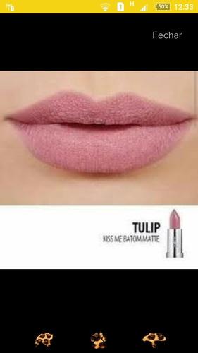 batom soul kiss me efeito mate tulip eudora