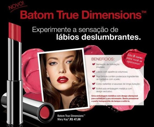 batom true dimensions - mary kay