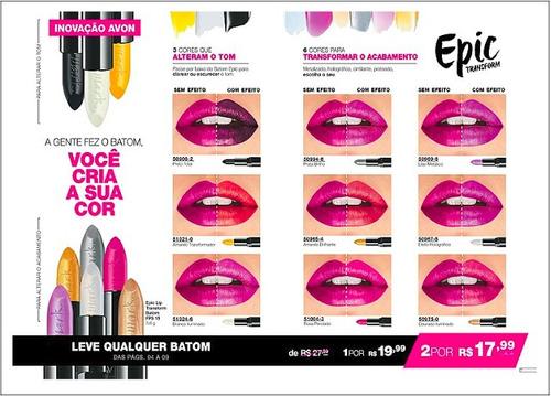 baton mark epic lip cor intensas e transformadora + brinde