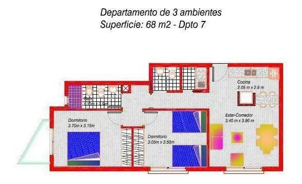 battaglia 500 1-g - pilar - departamentos 3 ambientes - venta