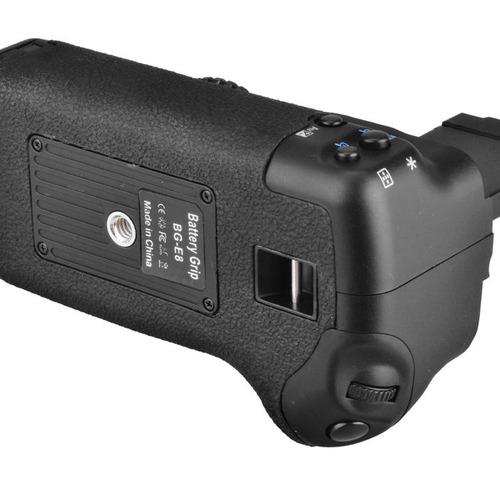 battery grip de bateria p/ canon t5i 700d + 2 baterias lp-e8