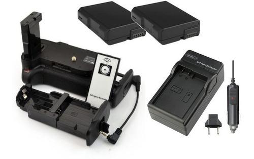 battery grip p/ nikon d5100 d5200 + 2 baterias en-el14