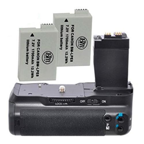 battery grip para canon t3i, t4i, t5i - 2x baterias extras