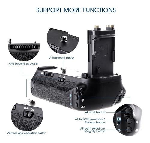 battery grip travor bg-e14 bg-1t canon 70d 80d 12x s/juros