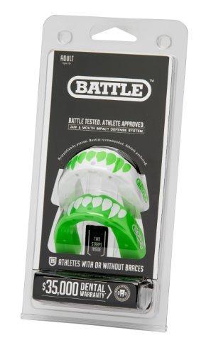 battle fang mouth guard (paquete de 2), neon green / white,