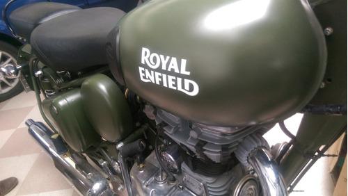 battle green royal enfield