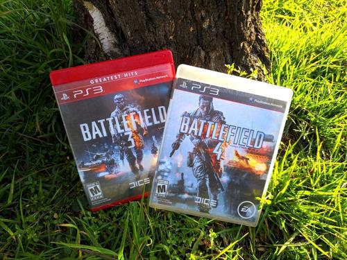 battlefield 3 + battlefield 4 ps3. envío gratis