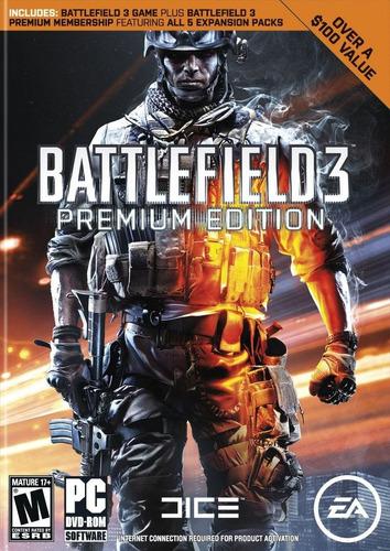 battlefield 3 premium edition pc original origin garantizado