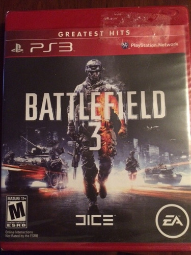 battlefield 3 ps3, greatest hits, nuevo y sellado