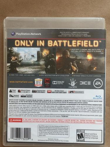 battlefield 4 ps3. envíos todo chile