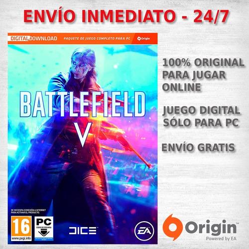 battlefield 5 v pc juego origin digital original tenelo ya