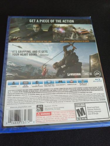 battlefield hardline ps4 nuevo sellado envio gratis