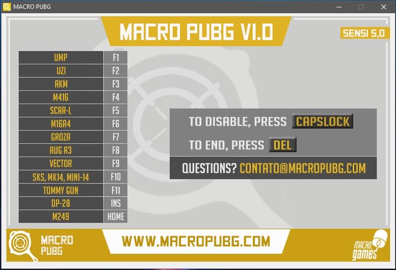 Battlegrounds Pubg Script / Macro No Recoil