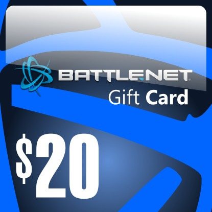 battlenet 20$ gift card, starcraft 2 diablo 3 auction house
