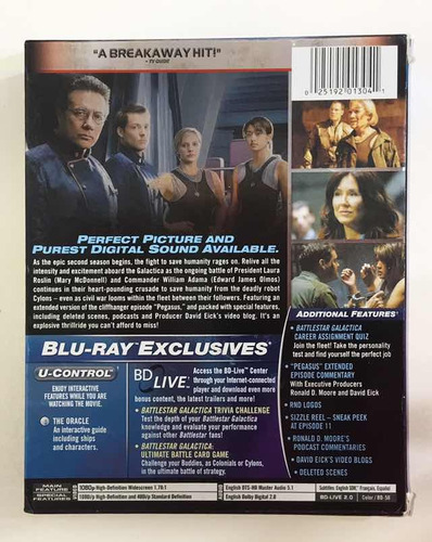 battlestar galactica temporada 2 blu-ray - original