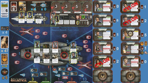 battlestar galactica the board game - juego de tablero
