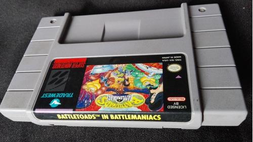 battletoads in battlemaniacs snes !! excelente juego!! b