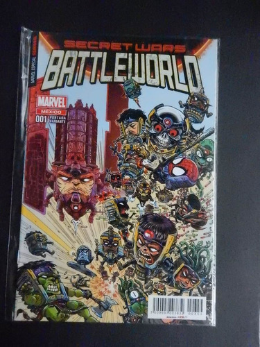 battleworld #1 secret wars (portada variante) marvel mexico